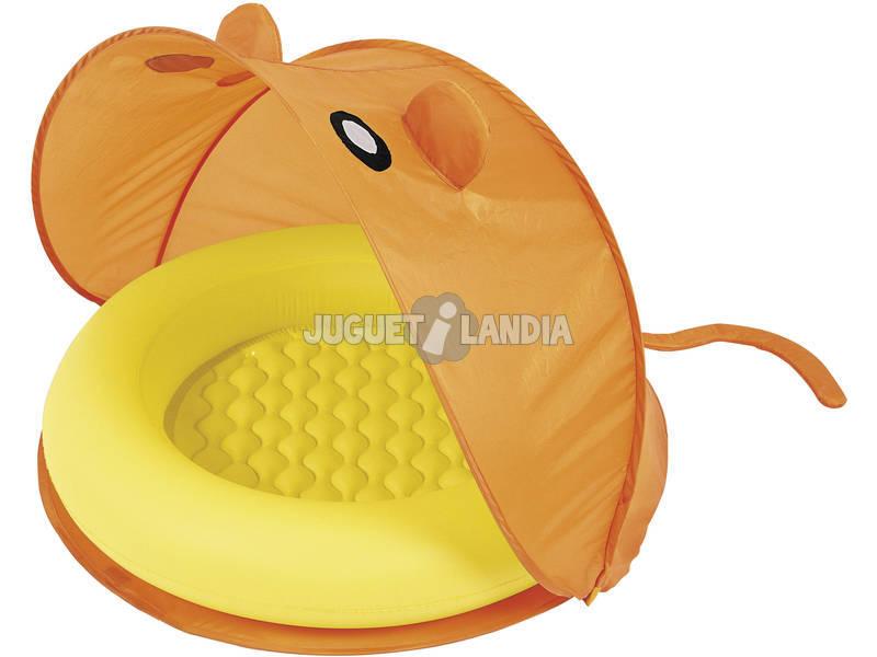 Piscina gonfiabile rotonda Baby con Tenda 97x97x74 cm Bestway 51110