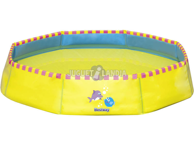 Piscina portatil amarilla 99x99 cm bestway 51127 for Piscina portatil