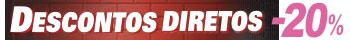 Descontos diretos de 10% a 80% em uma seleção de itens