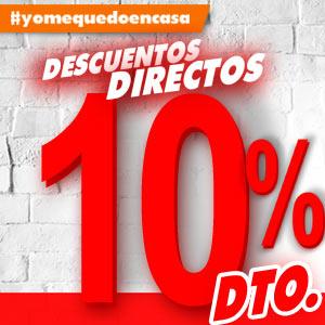 #YoMeQuedoEnCasa Descuentos directos del 10% al 25% en una selección de artículos.