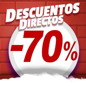 Descuentos directos del 10% al 80% en una selección de artículos