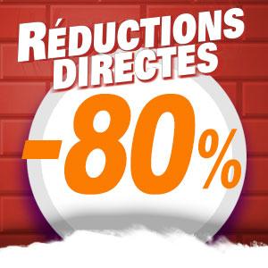 Réductions directes de 20% à 80% sur une sélection d'articles
