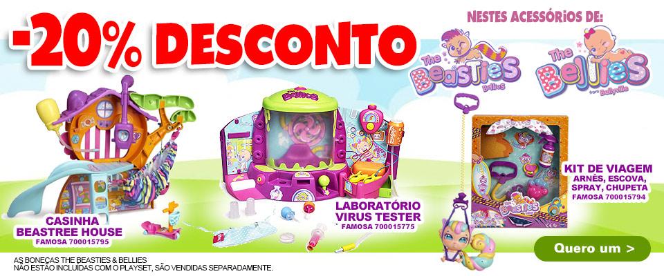 Vendas de 20%, 30%, 40% e 50% em uma grande variedade de brinquedos