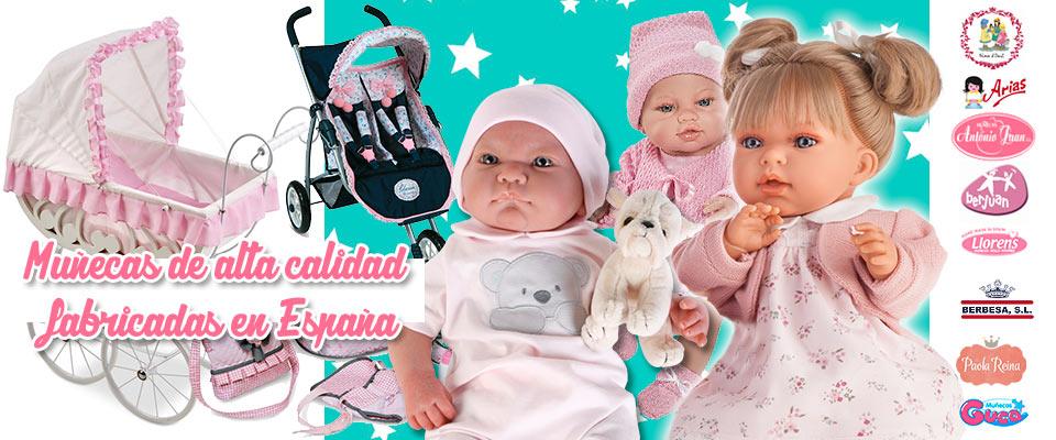 Muñecas fabricadas en España de alta calidad | Juguetilandia