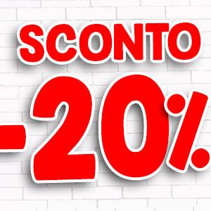 Sconti del 20%, 30%, 40%, 50% negli articoli selezionati